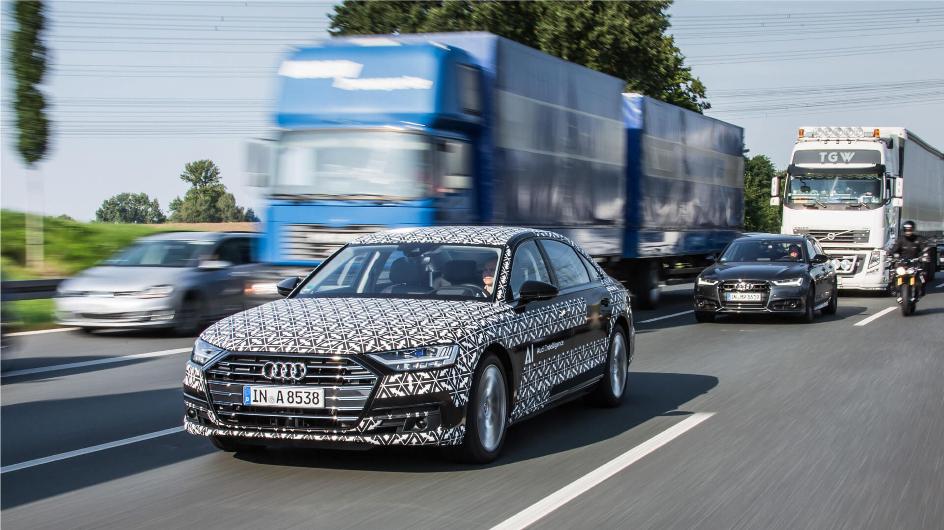 Audi A8 Electric Level 3 Test drive